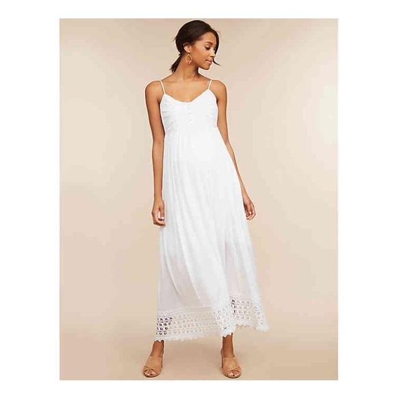 Motherhood Maternity Dresses & Skirts - White Dress NWOT